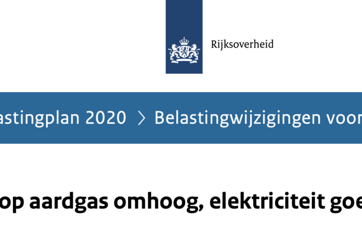 Kabinetsplannen duurzame energie